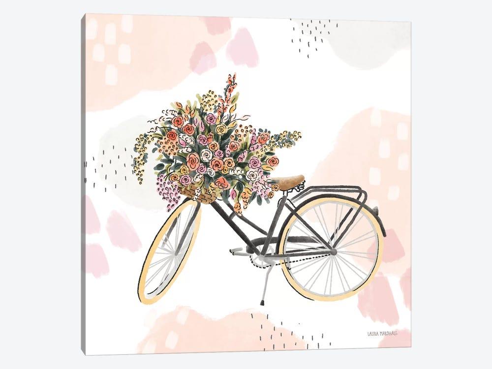 Sweet Paris II Bike by Laura Marshall 1-piece Canvas Artwork
