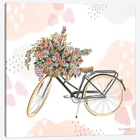 Sweet Paris II Bike Canvas Print #URA167} by Laura Marshall Canvas Wall Art