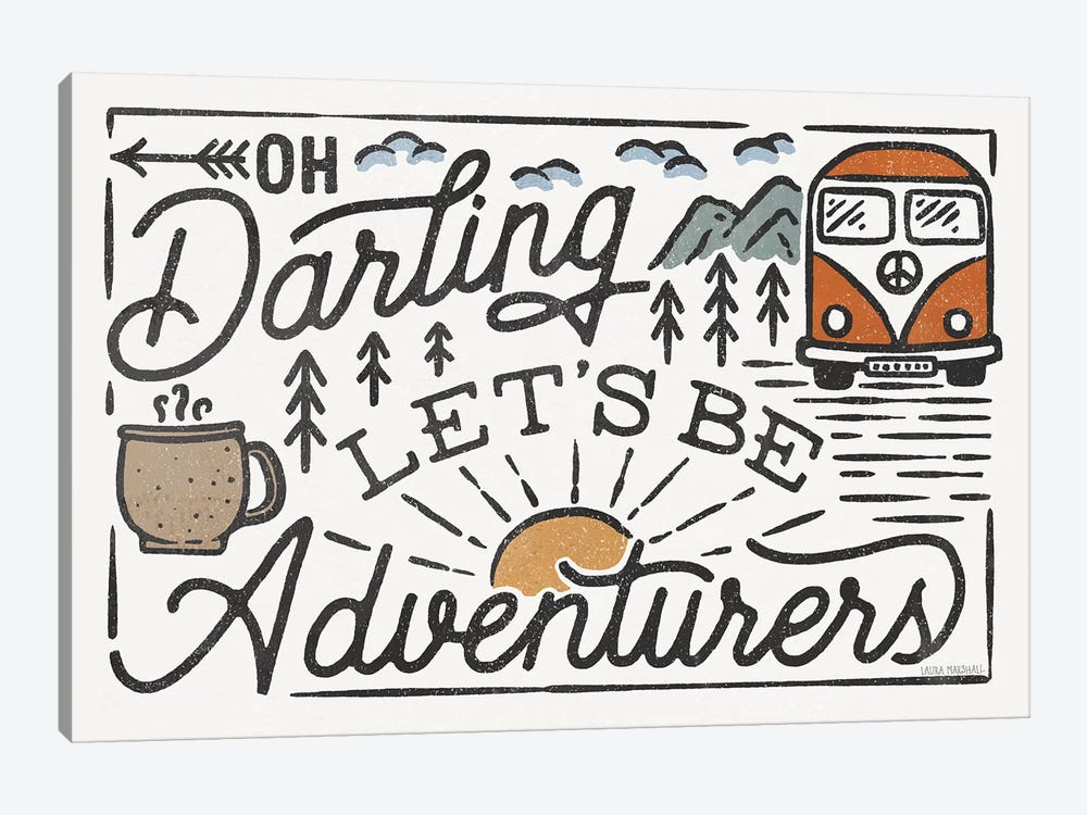 Adventurous I by Laura Marshall 1-piece Canvas Artwork