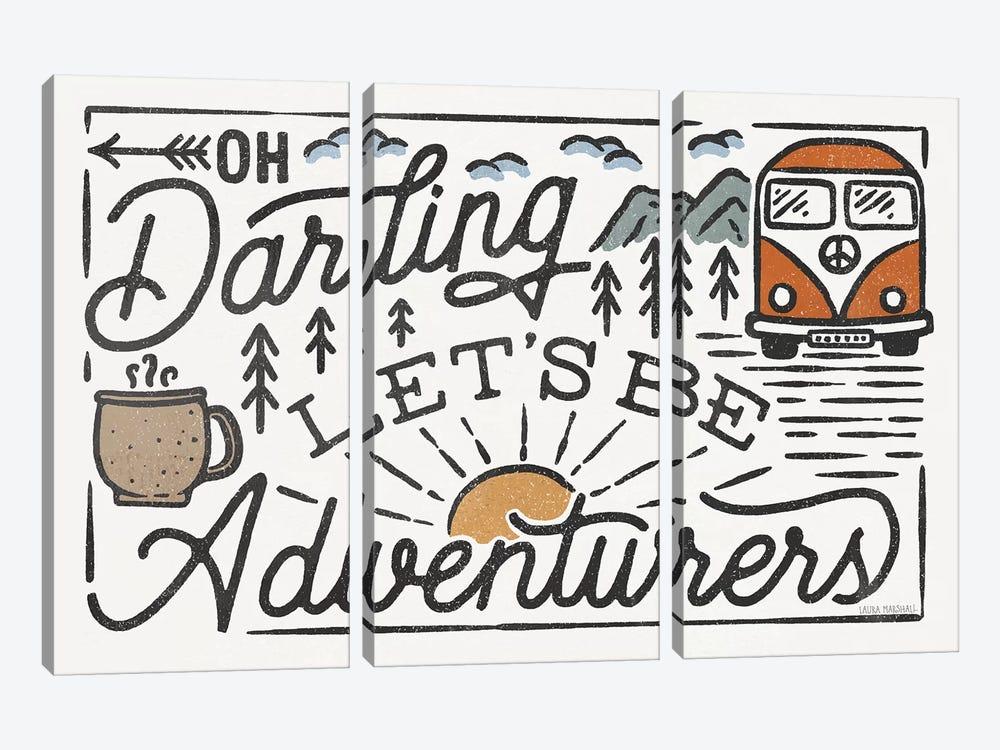 Adventurous I by Laura Marshall 3-piece Canvas Wall Art
