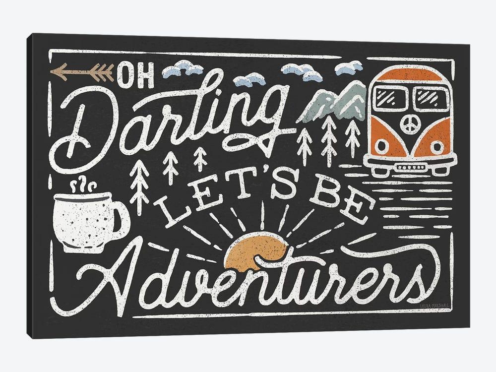 Adventurous I Black by Laura Marshall 1-piece Canvas Print