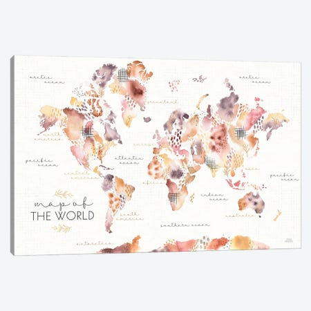 Desert Blooms Map Canvas Print #URA192} by Laura Marshall Canvas Artwork