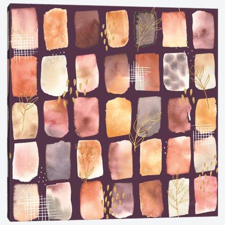Desert Blooms Pattern Xiib Canvas Print #URA197} by Laura Marshall Canvas Art Print