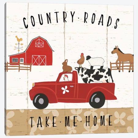 Country Roads III Canvas Print #URA27} by Laura Marshall Canvas Art Print