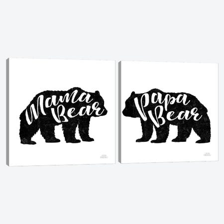 Mama Bear Canvas Print Set #URA2HSET001} by Laura Marshall Canvas Wall Art