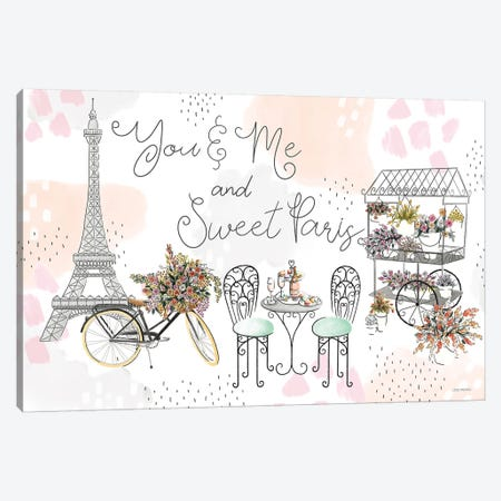 Sweet Paris I Canvas Print #URA40} by Laura Marshall Canvas Wall Art