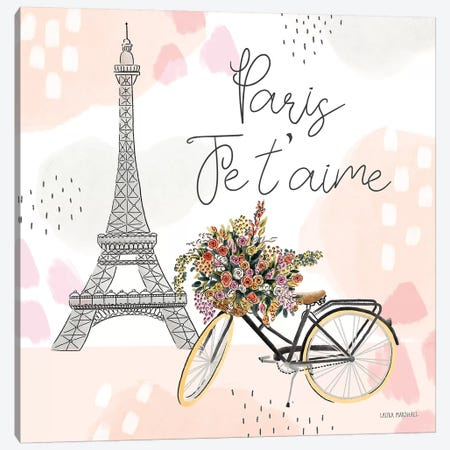 Sweet Paris II Canvas Print #URA41} by Laura Marshall Canvas Wall Art