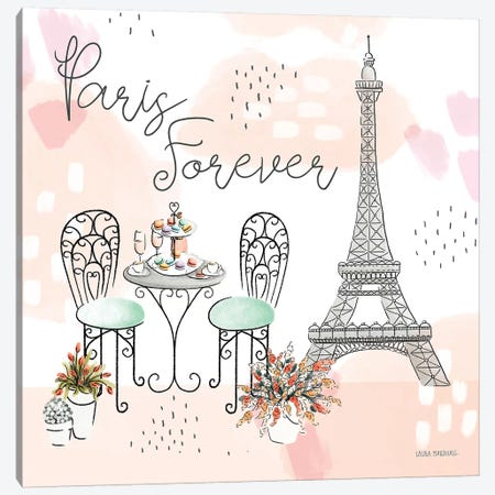 Sweet Paris III Canvas Print #URA42} by Laura Marshall Canvas Artwork