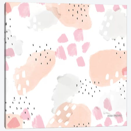 Sweet Paris Pattern III Canvas Print #URA44} by Laura Marshall Art Print