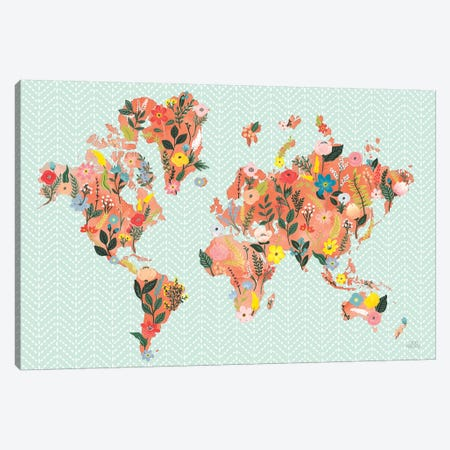Wild Garden World 3-Piece Canvas #URA48} by Laura Marshall Canvas Artwork