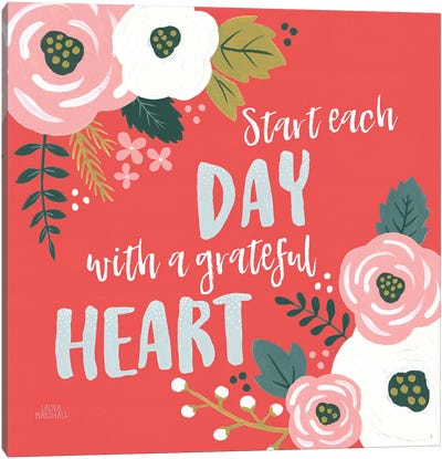 Wildflower Daydreams VII Grateful Heart Canvas Art Print