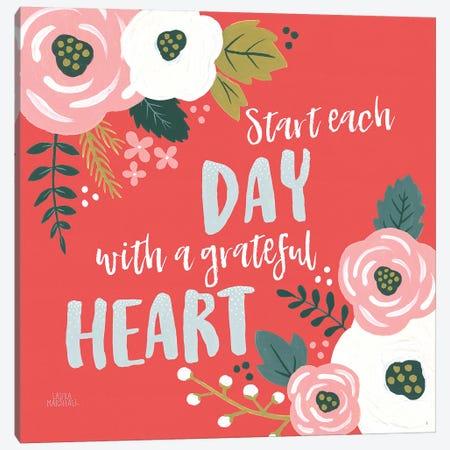 Wildflower Daydreams VII Grateful Heart Canvas Print #URA49} by Laura Marshall Canvas Artwork