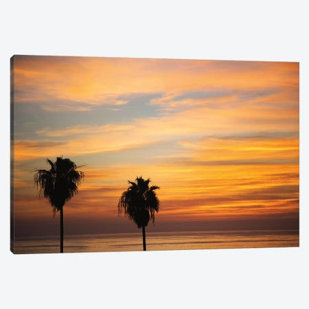 Sunset Palms III 3-Piece Canvas #URA4} by Laura Marshall Canvas Wall Art