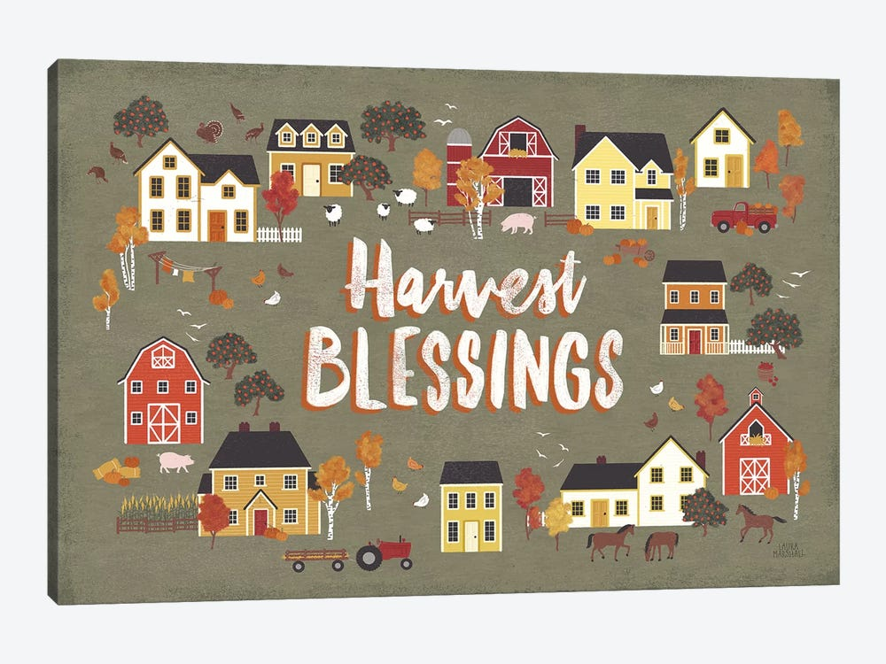 Harvest Village I by Laura Marshall 1-piece Art Print