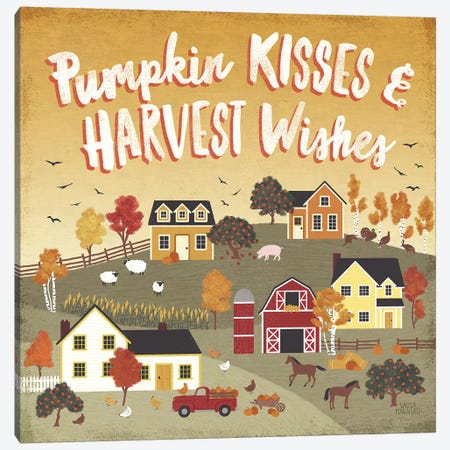 Harvest Village IV Canvas Print #URA61} by Laura Marshall Canvas Artwork