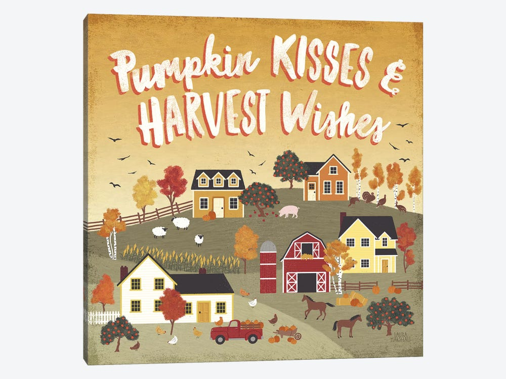 Harvest Village IV by Laura Marshall 1-piece Canvas Art Print