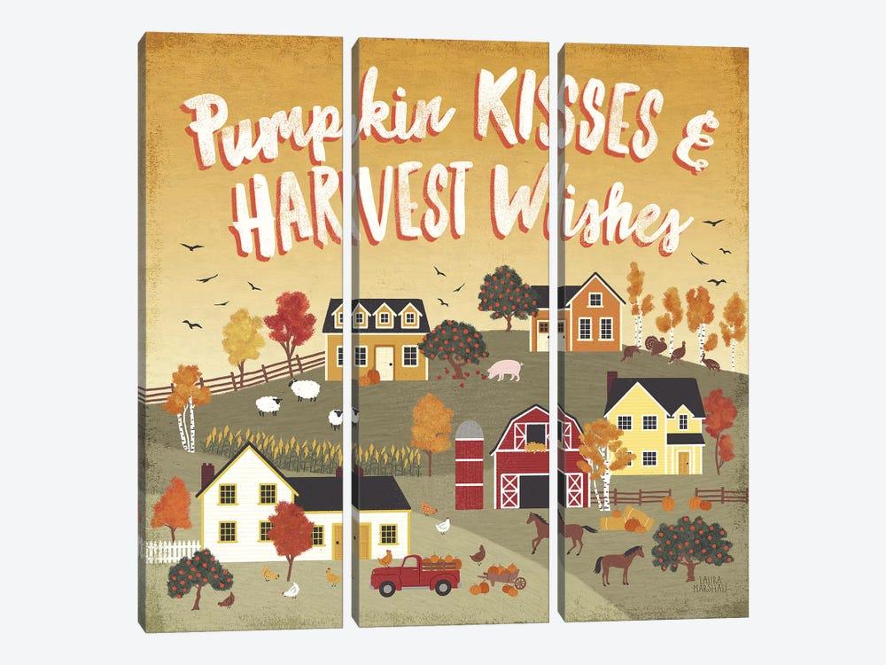 Harvest Village IV by Laura Marshall 3-piece Art Print