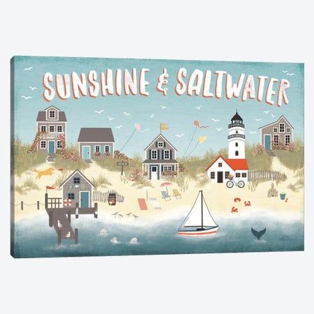 Seaside Village I Canvas Print #URA67} by Laura Marshall Art Print