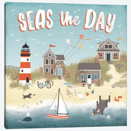Seaside Village II Canvas Print #URA68} by Laura Marshall Canvas Artwork
