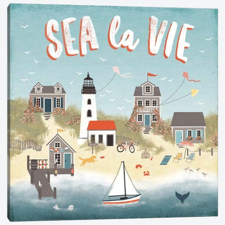 Seaside Village III Canvas Print #URA69} by Laura Marshall Canvas Artwork