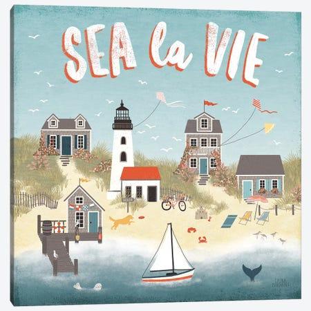 Seaside Village III Canvas Print #URA69} by Laura Marshall Canvas Artwork
