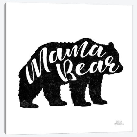 Mama Bear Canvas Print #URA6} by Laura Marshall Canvas Wall Art