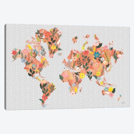 Wild Garden World Gray Canvas Print #URA77} by Laura Marshall Canvas Wall Art