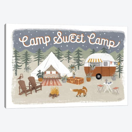 Gone Glamping I Canvas Print #URA78} by Laura Marshall Canvas Art Print