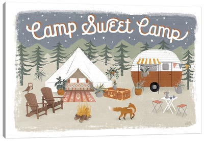 Gone Glamping I Canvas Art Print