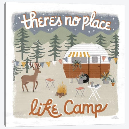 Gone Glamping II Canvas Print #URA79} by Laura Marshall Canvas Art Print