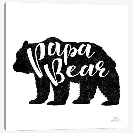 Papa Bear Canvas Print #URA7} by Laura Marshall Canvas Art
