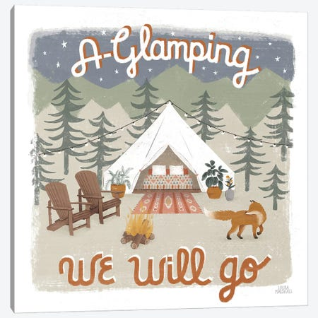 Gone Glamping III Canvas Print #URA80} by Laura Marshall Canvas Wall Art
