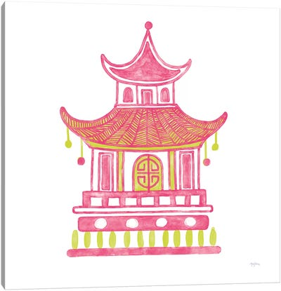 Everyday Chinoiserie II Pink Canvas Art Print
