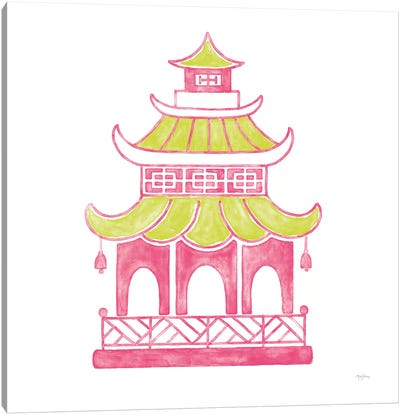 Everyday Chinoiserie IV Pink Canvas Art Print