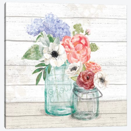 Pastel Flower Market XII Canvas Print #URB113} by Mary Urban Canvas Wall Art