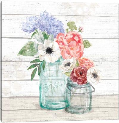 Pastel Flower Market XII Canvas Art Print