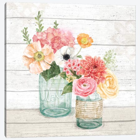 Pastel Flower Market XIII Canvas Print #URB114} by Mary Urban Canvas Art Print