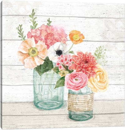 Pastel Flower Market XIII Canvas Art Print