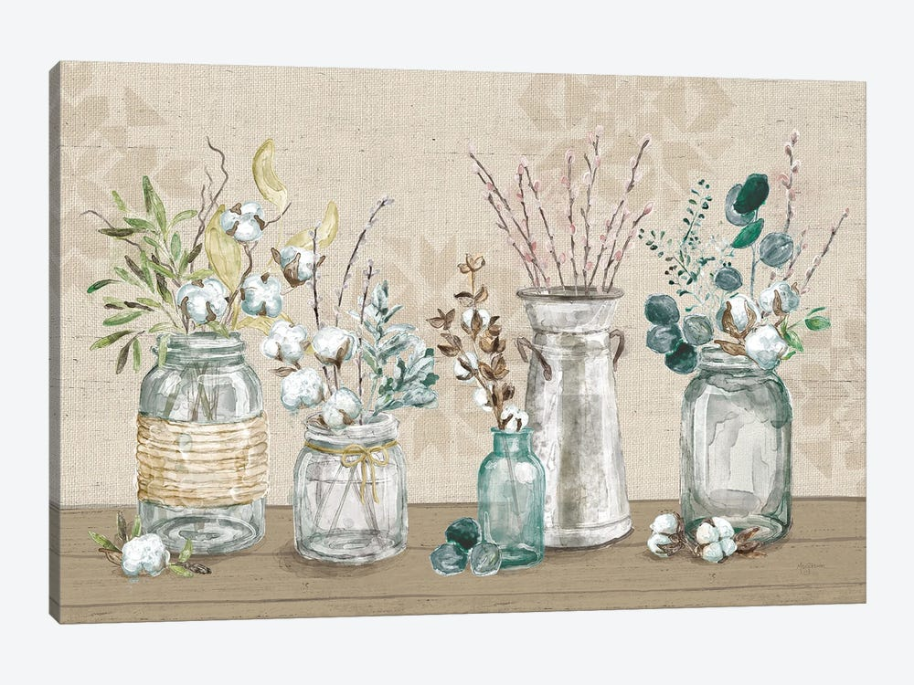 Cotton Bouquet I by Mary Urban 1-piece Canvas Art
