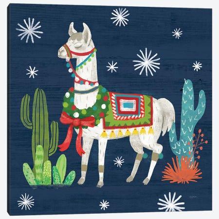 Lovely Llamas V Christmas Canvas Print #URB12} by Mary Urban Canvas Artwork