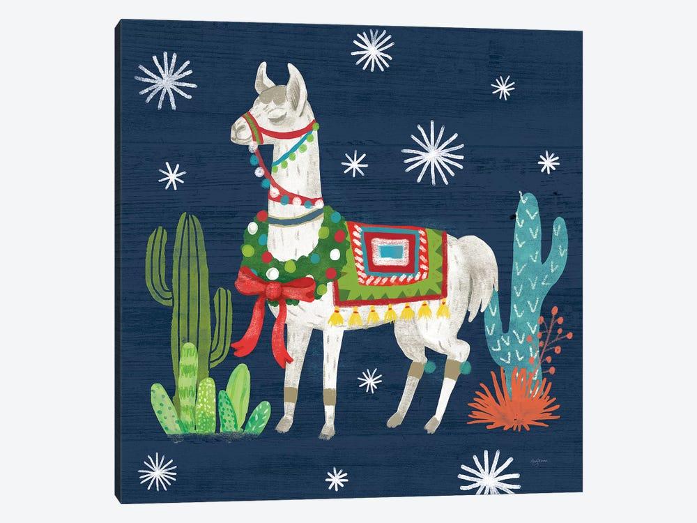 Lovely Llamas V Christmas by Mary Urban 1-piece Art Print