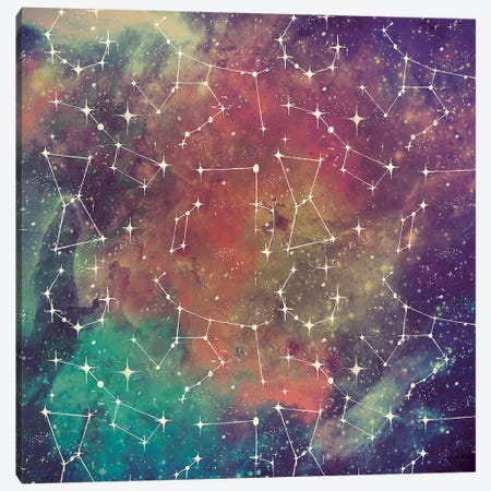 Universe Galaxy Pattern III 3-Piece Canvas #URB17} by Mary Urban Canvas Art Print
