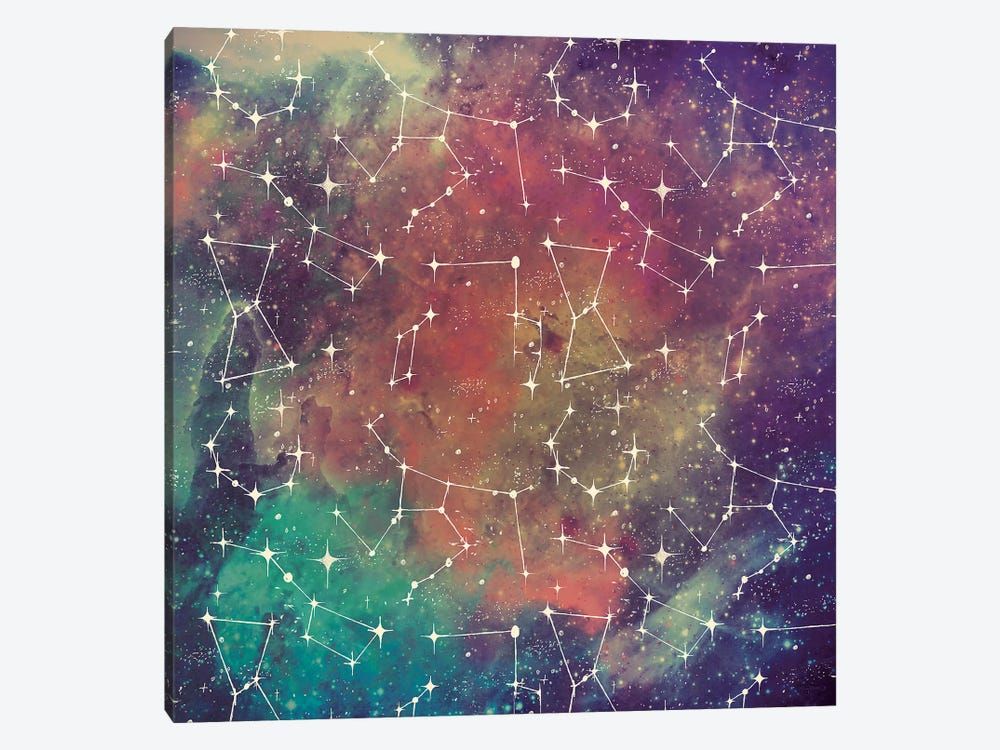 Universe Galaxy Pattern III by Mary Urban 1-piece Canvas Artwork