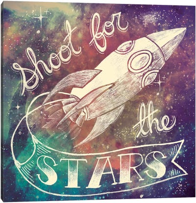 Universe Galaxy Shoot For the Stars Canvas Art Print