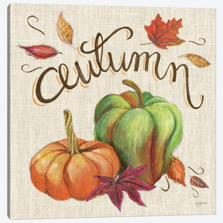 Autumn Harvest I Linen Canvas Print #URB19} by Mary Urban Canvas Wall Art