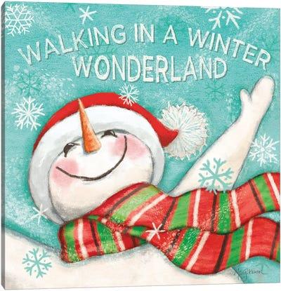 Let it Snow V Eyes Open Canvas Art Print