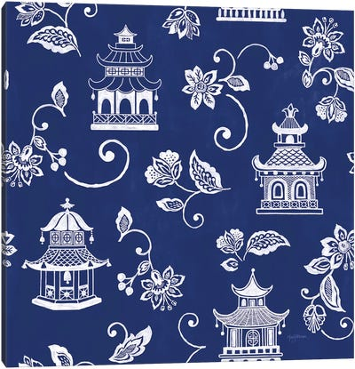 Everyday Chinoiserie Pattern VIA Canvas Art Print