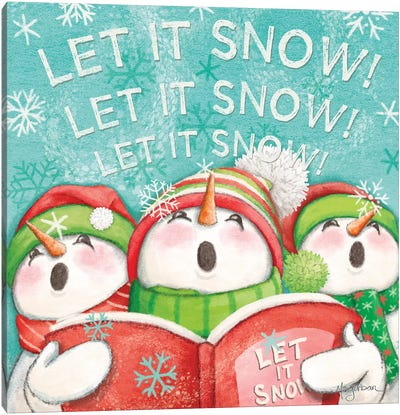 Let it Snow VIII Eyes Open Canvas Art Print
