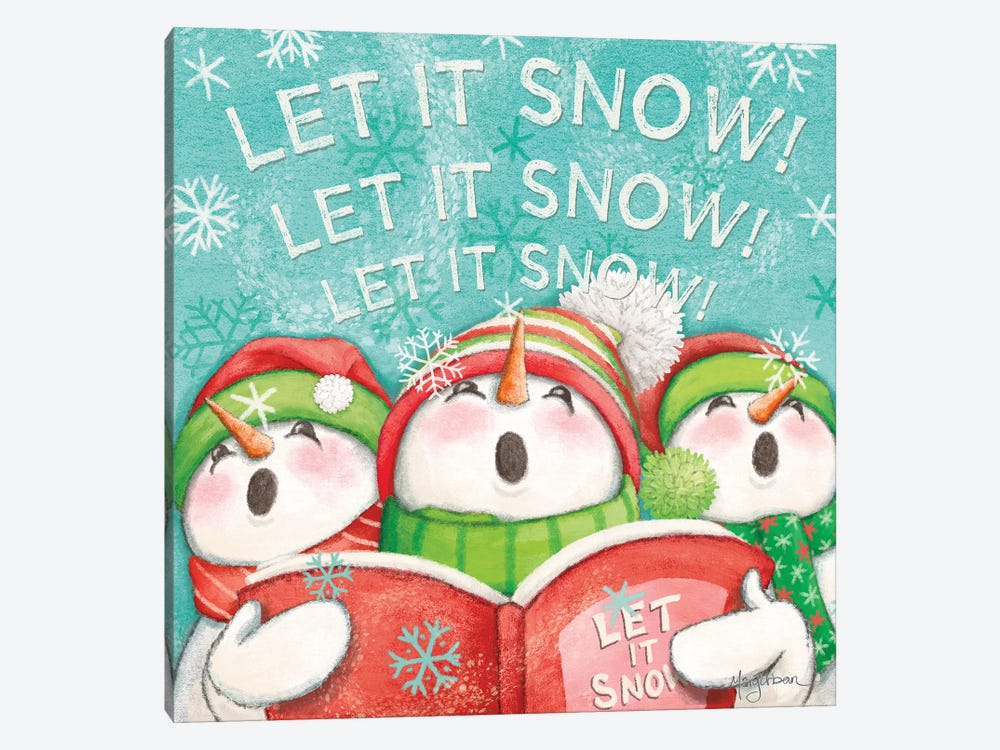 Let it Snow VIII Eyes Open by Mary Urban 1-piece Canvas Print
