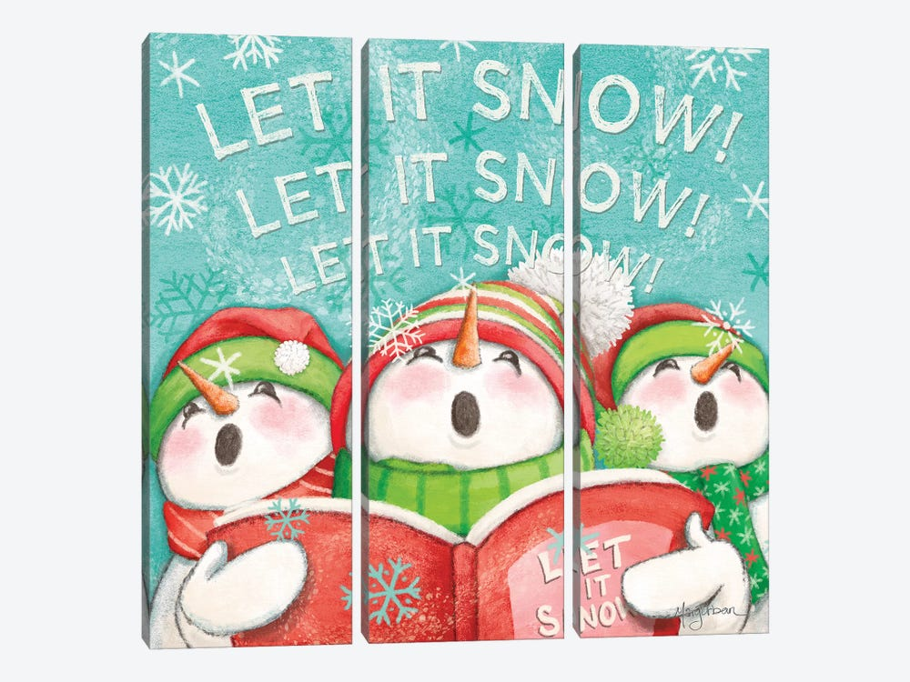 Let it Snow VIII Eyes Open by Mary Urban 3-piece Art Print